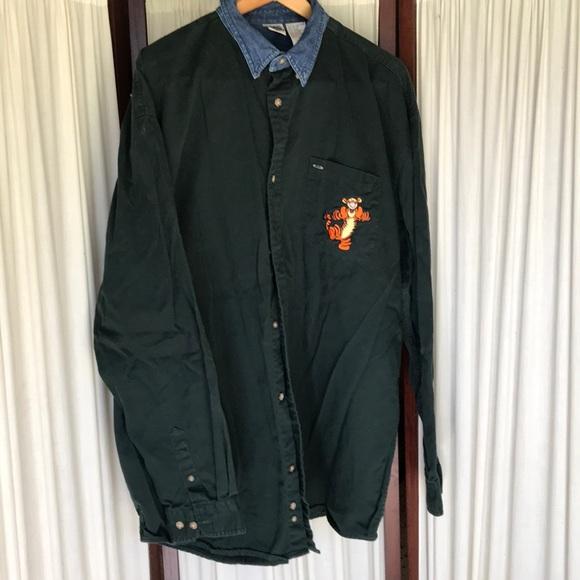 Vintage The Disney Catalog jean shirt Sz L Tall